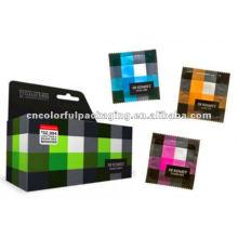 Venda al por mayor el bolso de empaquetado colorido de la hoja de los preservativos