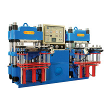 Hochpräzisions-Doppelpumpen-vollautomatische Front-Art 3rt hydraulische Formmaschine für industrielle Gummiteile Produkte (KSH-100T)