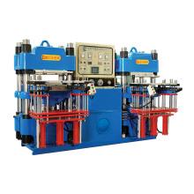 Máquina de moldeo hidráulico de 3 aumentos totalmente automático de doble bomba y estilo frontal para productos de goma industriales (KSH-100T)