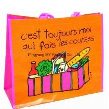Supermarkt-Einkauf BOPP laminierte Vliesstoff-Einkaufstasche