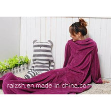 Cozy Fleece Blanket with Sleeves/Snuggie