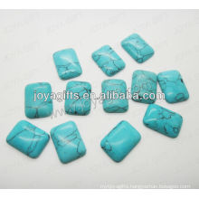 Turquoise square shape cabochon/ring surface/ring accessories