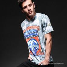 Esportes ao ar livre Airsoft combate tático Python Camo homens t-shirt de algodão