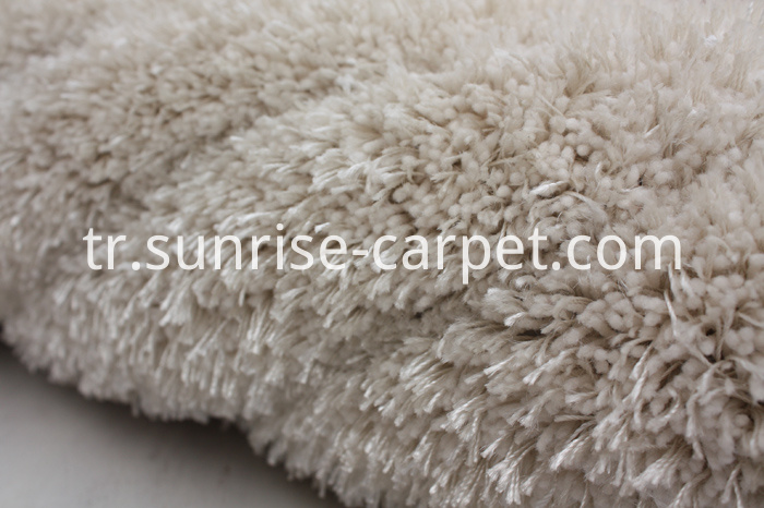Elastic mixed with Viscose Shaggy Rug with Design
