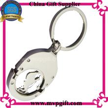 Metall Schlüsselring mit Trolley Münze Geschenk