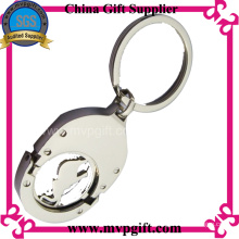 Metal Key Ring with Trolley Coin Gift