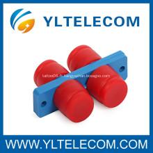 FC Duplex fibre optique adaptateur avec PC / UPC / APC Interface Structure de télécommunication