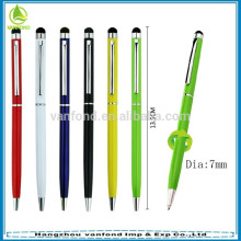 factory direct hot selling metal slim promotional screen stylus pen hotel pen