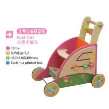 Panier multifonctionnel en bois Pousser le long du panier Boîte à jouets Panier de jouet Jouet en bois