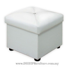 Living Room Sofa Ottoman, Leather Seat Box, Sofa Stool.