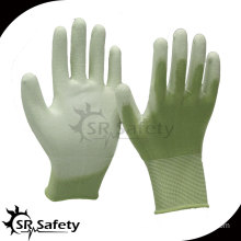 SRSAFETY 13 gauge pu coated safety hand working gloves/pu gloves safety