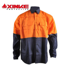 100%cotton high visibility button shirts
