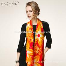 ¡¡Nuevo!! Moda de moda de las mujeres largas de seda suave de satén bufanda bufanda chal