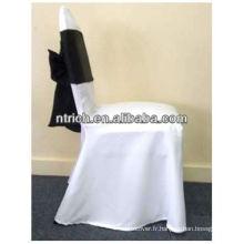 100 % spun couverture de chaise de polyester, couverture de chaise de banquet, couverture de chaise de haute qualité