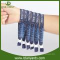 Events Stoff Material benutzerdefinierte Tuch Armbänder mit Schiebe Schloss