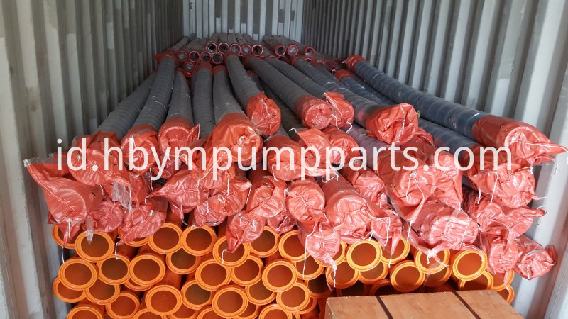 rubber hose load in container