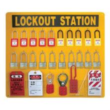 CE сертификация 20pc безопасности навесного замка + 6 * 6 отверстие hasp lock + 50 * ПВХ блокировка тегов безопасности блокировки станций