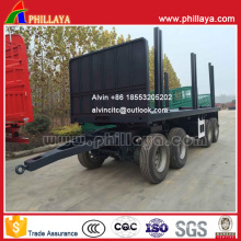 4 Axles 7.5m Cargo-Transporting Draw Bar Flatbed Trailer