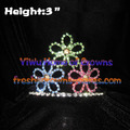 Flower Shaped Rhinestone Pageant Crowns