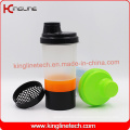 400ml Plastic smart shaker bottle with Pillbox in Container (KL-7003)