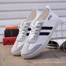Classique Hotsale Blanc Toile Chaussures / Grossiste Dames Chaussures / Femmes Plateformes Chaussures