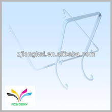 Gancho de exibição de fio branco duplo Slatwall para rack de exibição