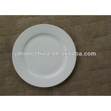 round shape white body porcelain ceramic dinnerware tableware bone china dinner plate set