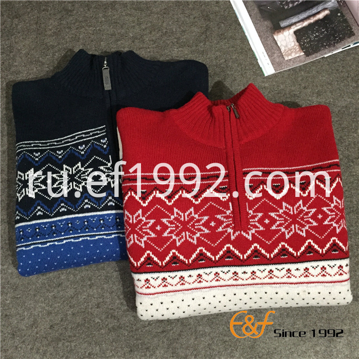Snowflake Pattern Men Sweater