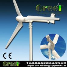 Turbina eólica horizontal da linha central de 1kw 400rpm para vendas
