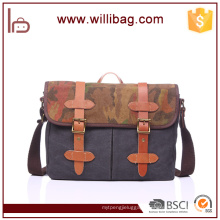 New Vintage Men Crossbody Shoulder Bag Canvas Camouflage Men's Satchel