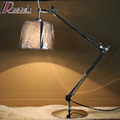 Double Rocker Arm Rotatable Bedside Hotel LED Table Lamp Reading Lighting for Bedroom