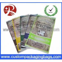 Heat Seal Clear Custom Plastic Popcorn Packaging Bags With Side Gusset