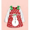Custom Night Wear Sets Cartoon Kids Christmas Pajamas Snow Man Baby Girl Clothes