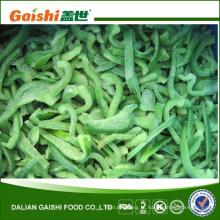 Fatias de pimenta verde congelada IQF