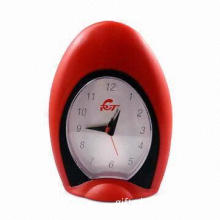 Promotional Plastic Quartz Alarm Desk Clock, Suitable for Souvenir Home Decoration Clock and Gifts