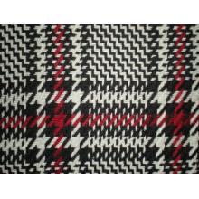 Tissu en laine teinté en fil Jacquard pour le manteau (Art # UW311)