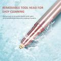 Depilación facial con afeitadora eléctrica para mujeres
