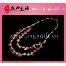 Collar de diseño hecho a mano de ágata rubí joyeros