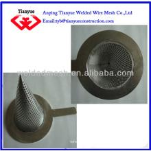 Filtro de cono de acero inoxidable filtro de malla