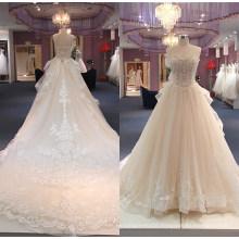 Luxury Strapless Ballgown Bridal Gown Wedding Dress 2017 Wgf150