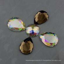 Pierres de bijoux de dos plat sans hoels pour la décoration