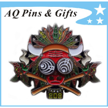 Metal Badge Pin with Soft Enamel Badge (badge-023)