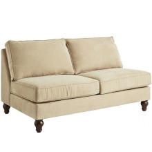Couro 100% do falso do poliéster da tela home do sofá de matéria têxtil