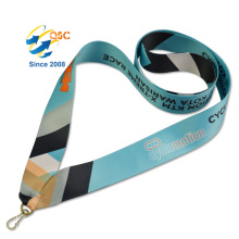 Safety Belt Pass Sublimation Lanyard With Whistle