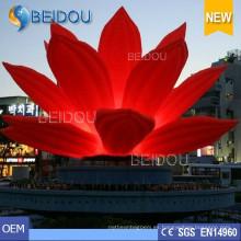Fiesta de bodas de eventos populares LED decorativas iluminadas inflables flores