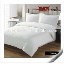 Algodão egípcio de alta qualidade branco liso Hotel usado Best Bed Sheets