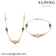 64025 Xuping al por mayor africano 18k oro plateado conjuntos de joyas de moda