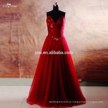 RSE743 Borgonha Prom Dresses 2016 Long Evening With Pocket