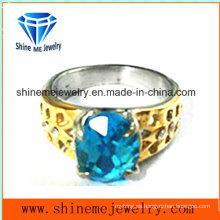 Anillo de acero inoxidable anillo de piedra (SCR2910)
