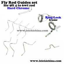 Chrome rígido para 9ft 4wt to 6wt Rod Fly Fishing Rod Guide Set